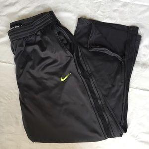 Nike Basketball gray track pants jogger XL